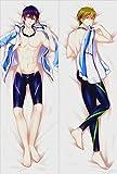 LIN-X Free Iwatobi Swim Club-Haruka Nanase-Makoto Tachibana (150x50cm) Peach Skin Anime Girl Body Pillowcases
