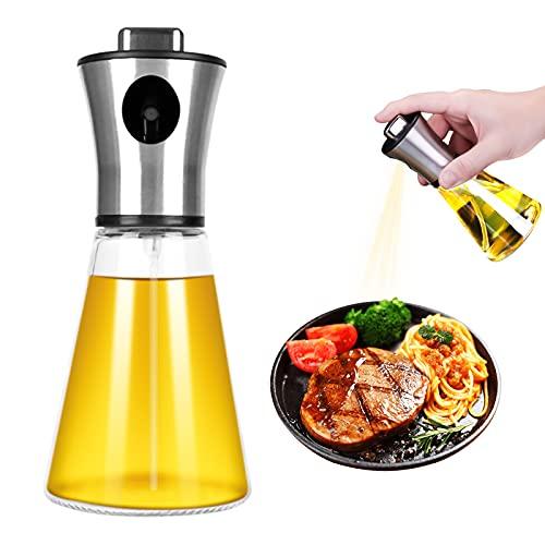 Dispensador de pulverizador, TOCYORIC Pulverizador de Aceite 200 ml de pulverizador Spray Oliva Aceite para cocinar, Barbacoa, Asar, Hornear, Ensalada