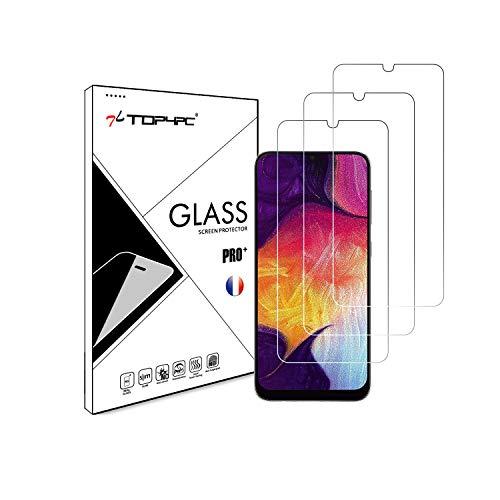 Top4pc [3 Pack] Film en Verre Trempé Vitre pour Samsung Galaxy A50 / A50s / A30 / A30s Protection Ecran Transparent Dureté 9H Sans Bulles Lot de 3