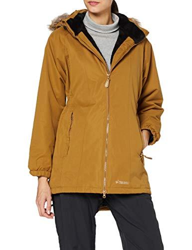 Trespass Chaqueta impermeable cálida para mujer con capucha extraíble, Mujer, Chaqueta con capucha extraíble, FAJKRAN20004_GDBM, marrón dorado, M