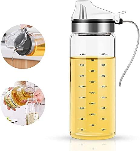 Aceiteras Antigoteo Cristal, Dispensador Aceite, Oliva y Vinagre Recipiente Aceite Para Cocina,Vinagrera,Aceiteras, 500ml