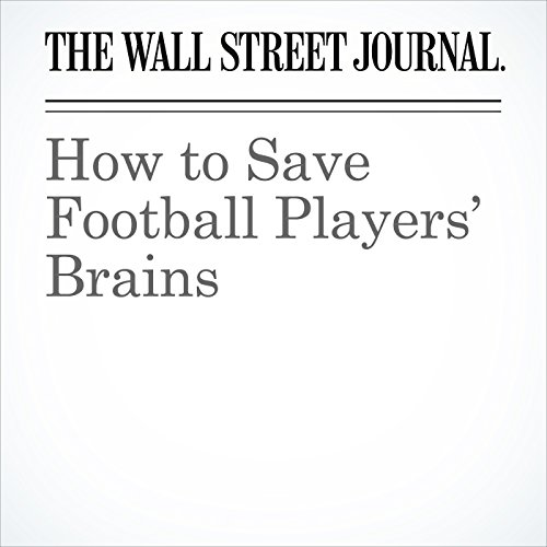 How to Save Football Players' Brains copertina