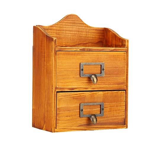 HAOX Caja de Almacenamiento de joyería de Madera de Pino Macizo, Organizador de Joyas, decoración de aleación de Alta dureza Duradera para Collar