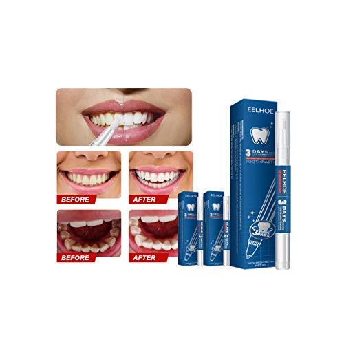 Zähne Bleichen Stift, Zahnaufhellung Gel,Zahn Bleaching,Aufhellungsstift für Weiße Zähne & Natürlich Aufhellen effektiv Flecken entfernen, 3ml (1PC)