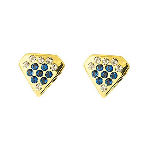 Orecchini Per Bambini Diamante Pietre Di Zaffiro - Oro Giallo 9K (375)