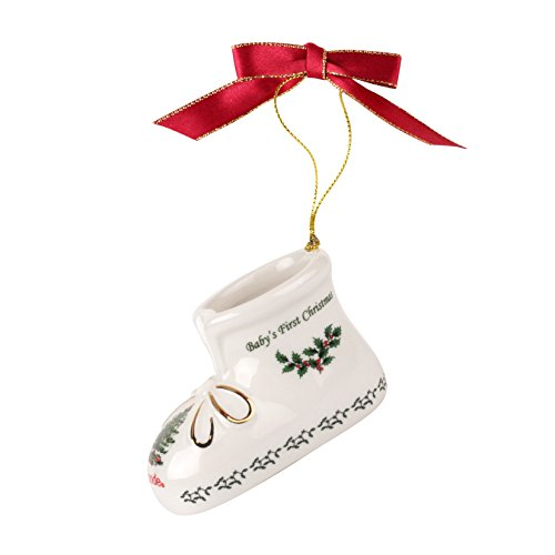 Spode Christmas Tree Annual Edition Ornament, Baby's First Christmas Bootie