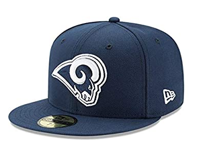 New Era 59Fifty Hat Los Angeles Rams 2Tone Navy Blue Fitted Cap 11803419