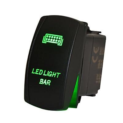 mictuning 5pin LED Light Bar Rocker Switch ON-OFF