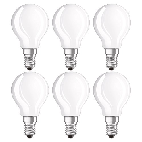 Osram LED Star Classic P Lampe, in Tropfenform mit E14-Sockel, nicht dimmbar, Ersetzt 40 Watt, Matt, Warmweiß - 2700 Kelvin, 6er-Pack