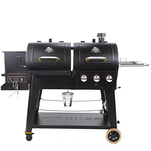 PIT BOSS PB1230SP Wood Pellet and Gas Combo Grill, Black