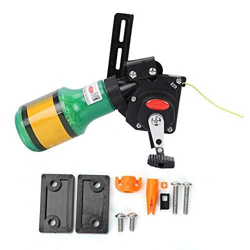 Juego de Tiro con Arco Spincast Reel Gear, Duradero Tiro con Arco Bowfishing Reel Seat Spincast Reel Compuesto Arco Caza Accesorio con 20 m Cuerda