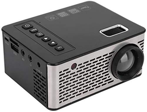 PFTHDE Mini proyector - uc26 Mini proyector portátil 1920x1080 Home Cinema Theatre Reproductor Multimedia Soporte USB/Tarjeta de Memoria/HDMI/AV/IR / 5V 2A / 12V 1.5A (Reino Unido)