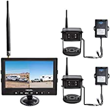 Haloview MC7108-K2 Kit Wiring-Free Wireless High Definition Rear View Camera System with 1 Monitor and 2 Camera(Portable Kit Pro)