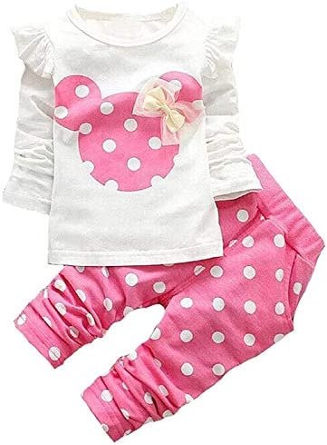 Baby Girl Clothes 2 Pieces Long Sleeved Cute Toddler Infant Outfits Kids Tops and Pants Set product image