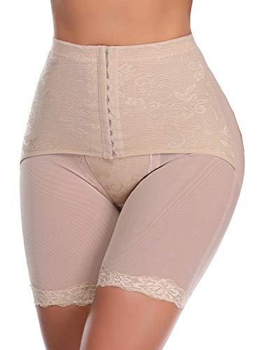 SLIMBELLE Donna Modellante Vita Alta Guaina Intimo Shapewear Mutande Contenitiva Slip Contenitive Pancia Pancera da Dimagrante Shaper Up Snellente per Push-Beige-L
