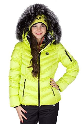 Sportalm Skijacke m. Kapuze & Pelz Größe 40 EU Gelb (Yellow)