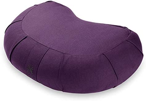 Node Fitness Organic Cotton 17 Crescent Meditation Cushion Purple product image