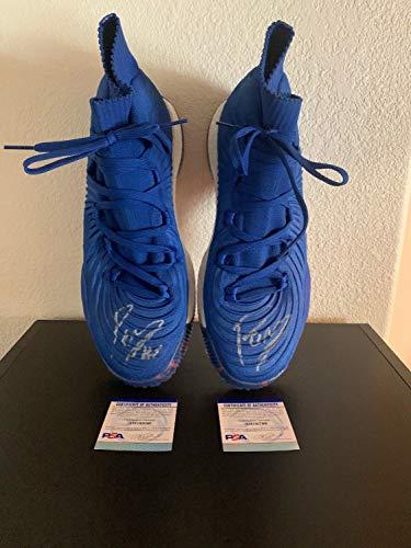 Kristaps Porzi Is Autographed Signed Adidas Crazy Explosive Pe Shoes Size 16 PSA/DNA Knicks