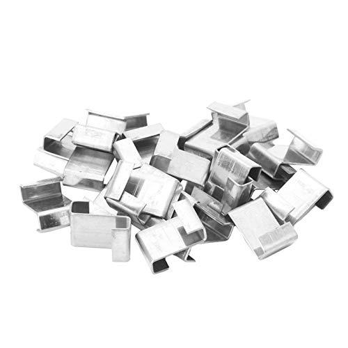 Gewächshaus-Verglasungs-Clip, 100 Stück, Edelstahl, Gewächshaus-Verglasung, Überlappung Z-Clips