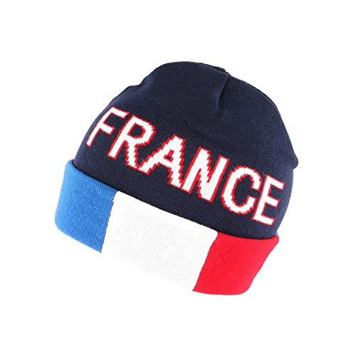 Nyls Création Bonnet France Bleu Blanc Rouge en Laine - Mixte