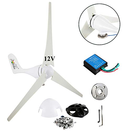 Wind Turbine Generator Kit 400Watt DC12V Indoor Outdoor Using of 3 Blades Marine, RV, Homes,...