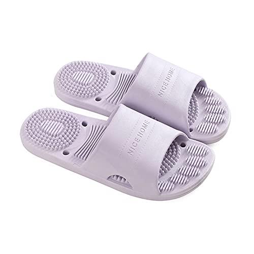 Zapatos de Playa y Piscina Mujer/Hombres Baño Slipper Sandalia de Ducha con Agujeros de Drenaje y función de Masaje  Cuarto de baño Interior Casa Gimnasio Suela Suave Suela Abierta Slippers Zapatos