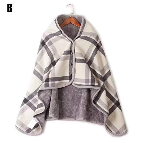JeromKewin Bärbar överdimensionerad filt, supermjuk varm plysch poncho filt scarf cape sjal, för att titta på TV slappa på bäddsoffan spelläsning