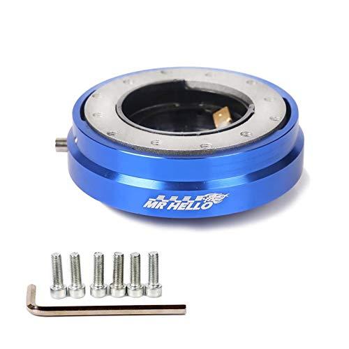 Xyhcs. Dünne Version Lenkrad-schnelle Freigabe-Naben-Adapter Verschluss Weg vom Chef-Kit (Color : Blue)