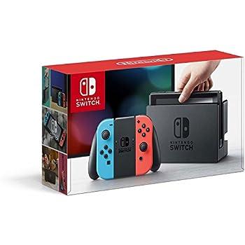 Nintendo Switch – Neon Red and Neon Blue Joy-Con  Renewed