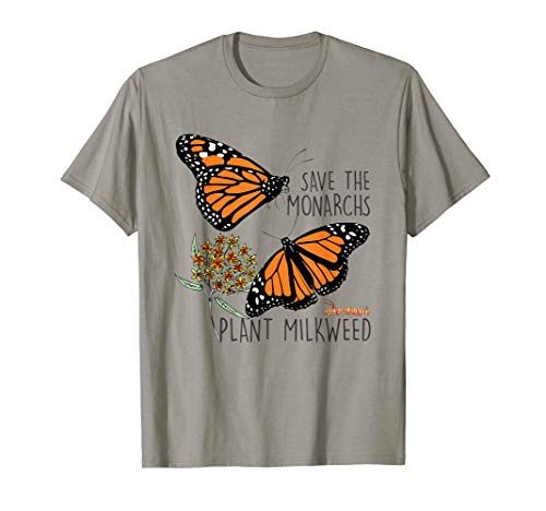 Save The Monarchs Plant Some Milkweed Butterfly Gift T-Shirt