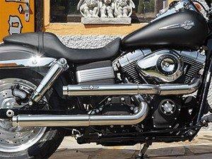 Marmitte BSL Shotgun Baker Straight LUCIDE omologate Per Harley Davidson Fat Bob e Street Bob dal 2007 al 2016