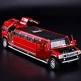 NRSM Juguete para El Automóvil para H-UMMER 1/32 Simulación Alloymetal Die Drise Case Toy Toy Tire Back Flashin (Color : Red)