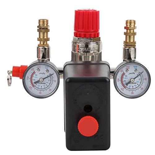 Seacanl Regulador de presión, Interruptor de presión de Contacto NC para Uso General para Controlador de presión para compresor de Aire para Uso Profesional