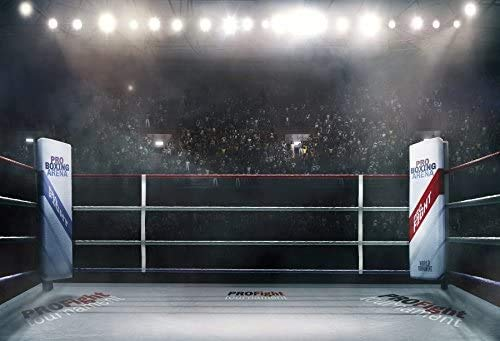 Leyiyi 12x10ft Photography Backdrop Boxing Match Background Underground Gambling Indoor Stage Light Violence Game Exciting Match Coliseum Muscle Hit Audience Photo Portrait Vinyl Studio Video Prop