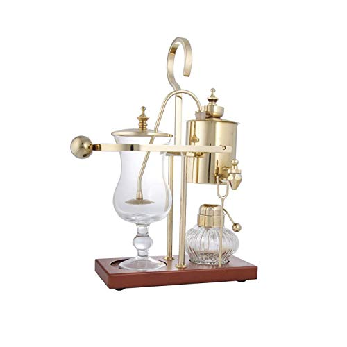Royal Vienna Balance Coffee Master Gold Elegant 19th Century Belgium Style Luxury Balance Syphon Coffee Machine / Maker Capacity: 500ml / 17 oz. 3-5 Cups S4U