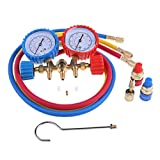 Refrigerant Manifold Gauge Set Air Conditioning Tools + Refrigerant Testing Char