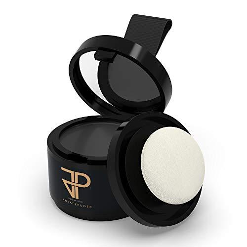 JP Conceal - Premium Ansatzpuder für Männer & Frauen, wasserfestes 3in1 Haar Make-Up zur gezielten Haarverdichtung am Ansatz, Scheitel oder Bart. Concealer zum Kaschieren lichter Stellen (Schwarz)