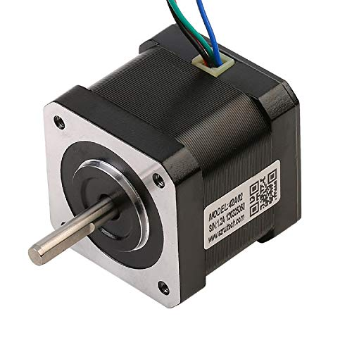 RTELLIGENT Nema 17 Stepper Motor Bipolar Stepping 2 Phase 0.22Nm/31.2oz-in 42x42x40mm 1.2A 1.8 Degree 3D Printer CNC Step Motor