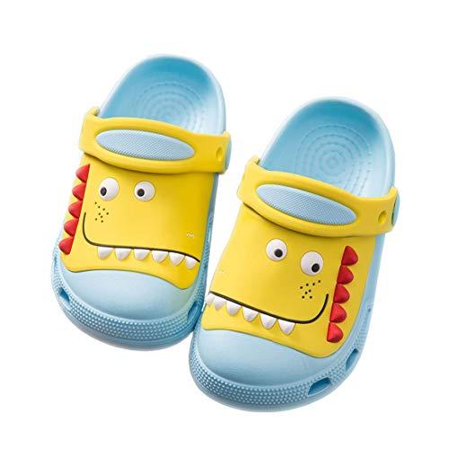 MOFEEDOUKA Kids Clogs Slippers Dinosaur Lightweight Boys Girls Indoor Outdoor Beach Pool Toddler Sandals