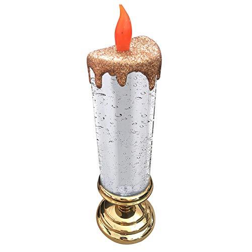 iSpchen Vela LED con Brillo Que Cambia de Color, Vela de Navidad, decoración Navideña de Ventana, Vela con Brillo LED Brillante, Vela con Luz Led Brillante