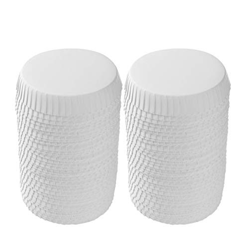 TTAO 100Pcs Disposable Cup Lids Paper Drinking Cup Lids Coffee Mug Covers for Coffee Shops Bars Restaurant White 65mm