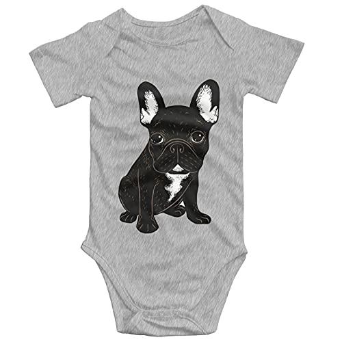Ropa de bebé Bulldog francés manga corta Babysuit divertido unisex chaleco recién nacido mameluco traje algodón