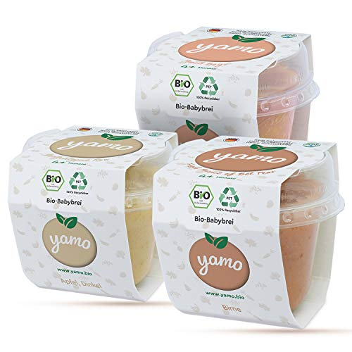 yamo Bio Babybrei | Sweet Start-Set | ab 4 Monate | kaltgepresst | 16 x 118g Becher