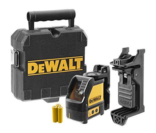 Dewalt DW088CG-XJ Green Beam Cross Line Laser with Carry Case, Yellow/Black