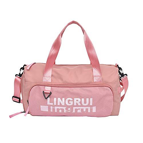 Bolsa de Viaje con Almacenamiento Húmedo y Seco y Compartimento para Zapatos Resistente al Agua y Duradera Bolsa de Trabajo para Llevar Maquillaje y Accesorios,Pink