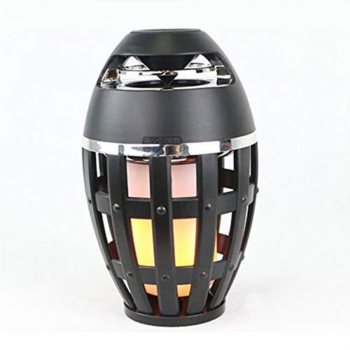 Tollk Lesse Nuevo Altavoz Bluetooth inalámbrico de luz de Llama al Aire Libre Impermeable subwoofer portátil Mini Altavoz Altavoz pequeño de Espera Larga
