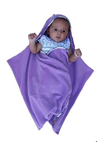 Bébé Sac de couchage, Swaddlesack, Sleepingsack, Dragon, Poussin ou Renne, Naissance de Noël, Baby Shower, Pâques, Cristening Cadeau, Echarpe de violet violet 0-6 mois