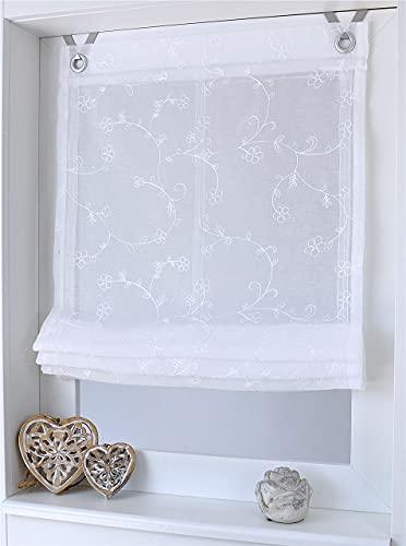 Liv Marc Estor con ojales (45 / 60 / 80 / 100x140cm), blanco, tela, weiss, ca. 45 * 140 cm