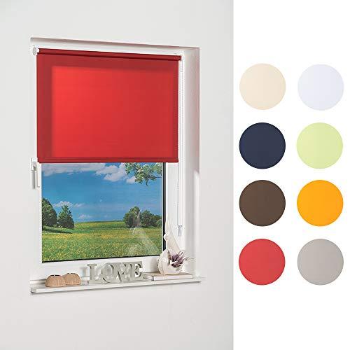 K-home Klemmfix-Minirollo, Rot Tageslicht 80 x 150 (B x L)