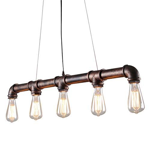 Style home Retro Hängelampe Rohr 104cm Deckenlampe Metall Vintage Industrie Stil RL-C201(ohne Leuchtmittel)